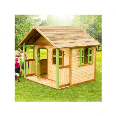 Dunwich Playhouse - Jumbo Wooden Wendy House With Porch